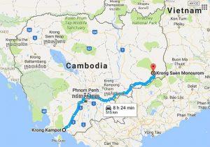 Travel from Kampot to Mondulkiri