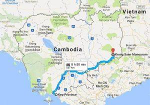 Travel from Kep to Mondulkiri